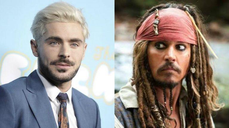 Zac Efron como Jack Sparrow no reboot de Piratas do Caribe