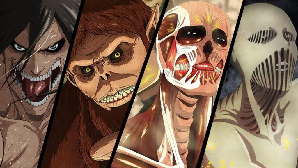 9 titãs originais de attack on titan